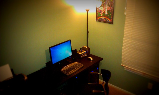The finished work space