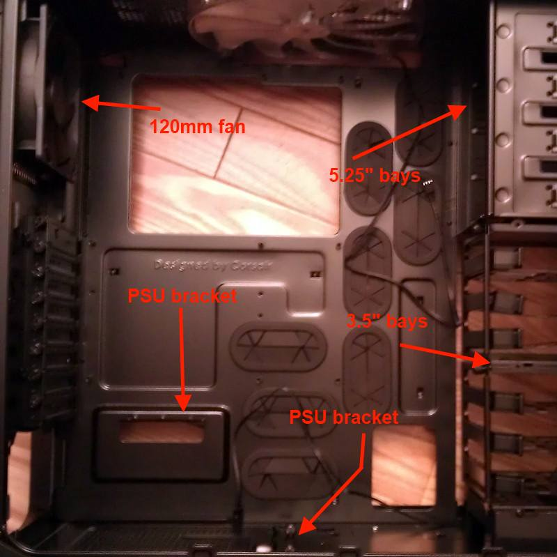 Inside the Super Awesome Computer case