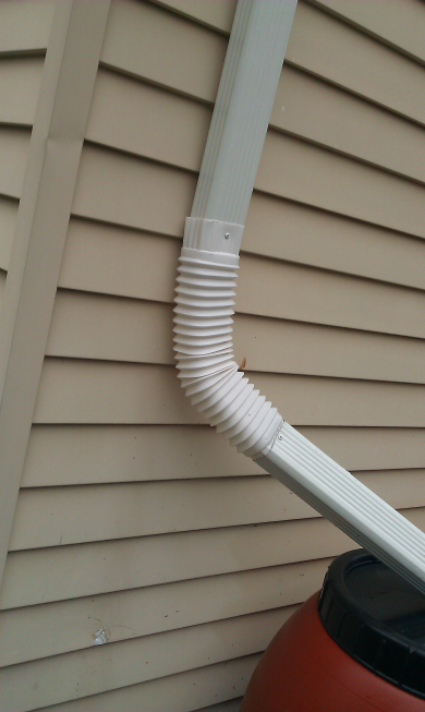 The modified downspout