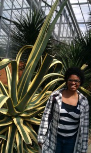 Chrissy posing in the arid house