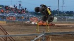 It's another monster truck jumping