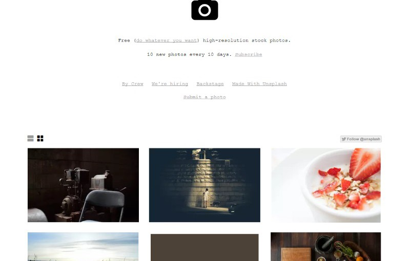 Unsplash: Completely free images for whatever you want