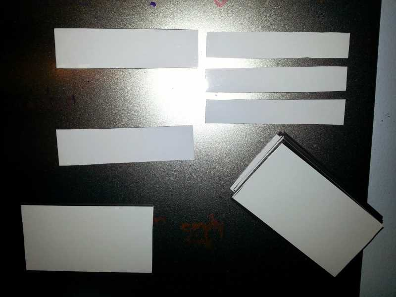 The finished dry erase magnets