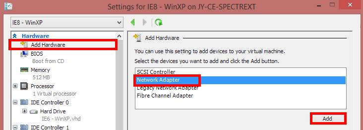 Add network adapter