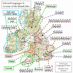 Selected languages and accents of the British Isles (CC BY-SA 3.0)