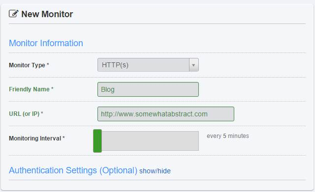 Setting up a monitor on an HTTP(s) URL