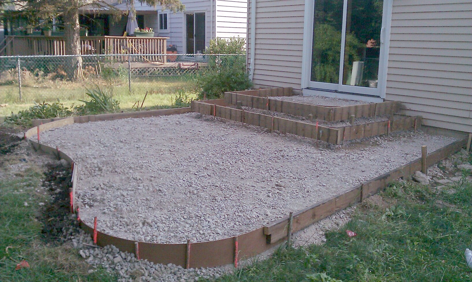 Our new patio - somewhat abstract on Concrete Yard Ideas id=18250
